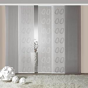 Vorhang Blickdicht Lichtdurchlässig flächenvorhang grau blickdicht deine wohnideen de
