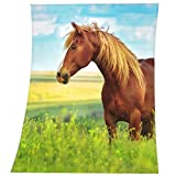 Herding Fleecedecke Young Collection Pferd, Polyester, Bunt, 160 x 130 cm