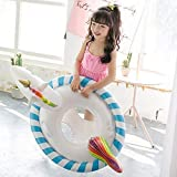 Ginkago New Piscina de niños Flotador Anillo de natación Entrenador Flotador de Agua Asiento Piscina Inflable Balsa Bebé (Unicornio)