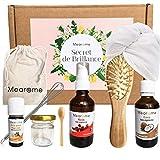 Coffret bio POUSSE CHEVEUX très rapide & SOIN naturel - Ricin, Coco, Petit grain...
