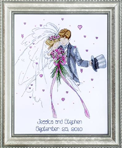 Design Works Wedding Couple Cross Stitch Kit, Multi-Colour