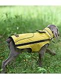 PALMFOX Haustier Hund Baumwolle Gefütterte Regenmantel Weste Kleider Mantel Jacke Kleidung Wasserdicht M