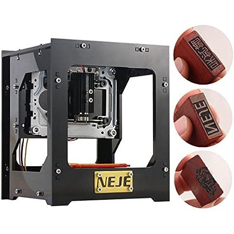 Neje DK-8-KZ Macchina per incisioni laser da 1000mW, con attacco USB, perfetta per incidere loghi, (108 Chiave Usb)