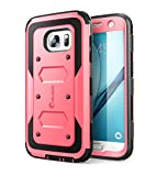 i-Blason Samsung Galaxy S7 Hülle Armorbox Case Outdoor Handyhülle Stoßfest Schutzhülle Cover mit integriertem Displayschutz und Gürtelclip, Pink