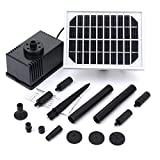 Mohoo 10V 2W Solar Fountain Solar Panel Energies Submersible Fountain For Balcony Terrace Fountain With Solar Pump.