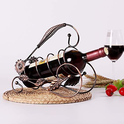 LONFNER Kreative Eisen Kunst Mode Wein Flasche Halter Wein