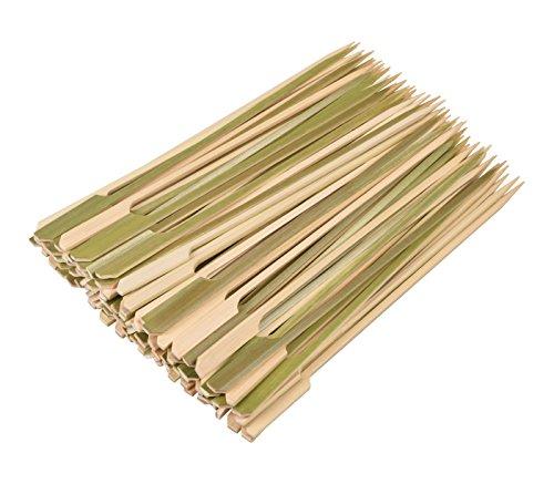 Yiapinn - Pinchos de bambú Natural de 21 cm, 100 Piezas, Pinchos para Barbacoa para Parrilla, Fiesta, sándwich, cóctel