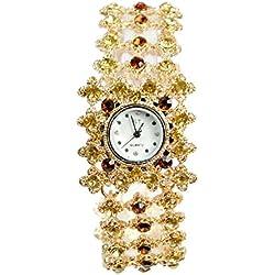 Frau, Quarzuhr, Armband, Mode, Freizeit, Persönlichkeit, Metall, W0334