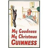 Mesllings Plaque de bière vintage avec inscription « My Goodness My Guinness » 30,5 x 20,3 cm