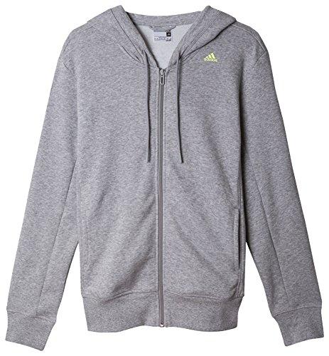 Adidas essentials mid 3S veste à capuche pour femme Gris - Gris/Citron vert