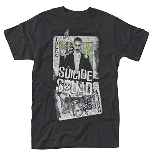 Plastic Head Suicide Squad Harley Joker Cards, T-Shirt Uomo, Nero, XX-Large