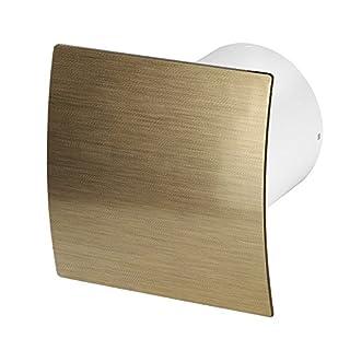 Bathroom Extractor Fan Wall Diameter 100Ball Bearing Silent Standard Escudo–Line System + Ø 100 gold gebürstet