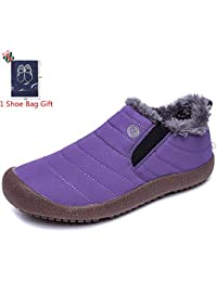 Morbuy Botas de Nieve Mujer, Invierno Unisex Plano Botines Calentar Zapatos Impermeables Deportes Trekking Zapatos
