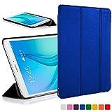 Forefront Cases® Samsung Galaxy Tab A 9.7 Étui Housse Coque Smart Case Cover Stand - Ultra Mince Léger avec Protection complète de l'appareil et Fonction Intelligente Veille/Réveil Automatique (Bleu)