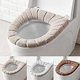 sièges de WC, WC Housse de siège Coussin de salle de bain chaud et doux Housse lavable Pads 3pcs