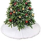 Rechoo Gonna 78,7 cm per Albero di Natale con Bordo Rotondo, Decorazione per Le Feste di Natale – Bianco 04-31 inch (E)