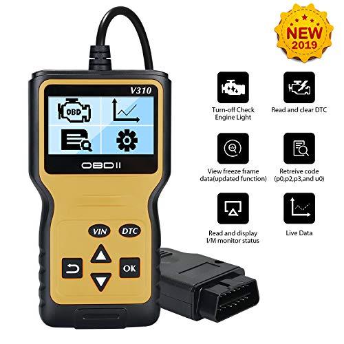 URAQT OBD2 Car Scanner Diagnostic, OBDII Scanner Lettore di Codice Attrezzo di Esplorazione, OBD2 Code Reader Lettura Leggere e Chiari Codici di Errore OBD per Auto Veicolo