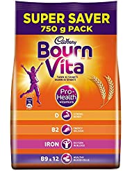 Cadbury Bournvita Pro-Health Chocolate Health Drink, 750 gm Refill Pack