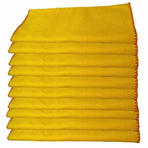 10 Pack of Heavy Duty Yellow Dusting Dusters / Cleaning Cloths.