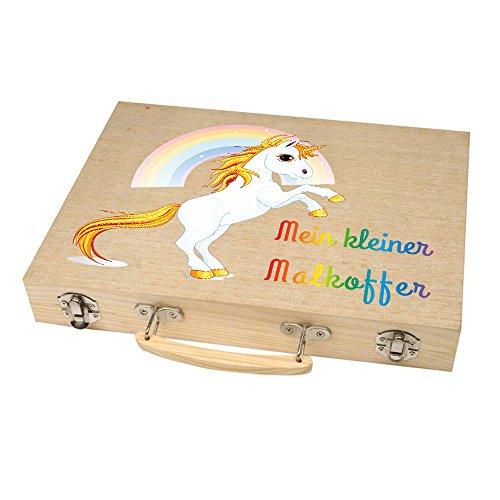 Malkoffer 'PAINT BOX 66' mit 11 Utensilien - 66-teiliges Malset für Schule und Co.: Der kompakte Malkasten im praktischen Holzkoffer! , Motiv:Motiv 07