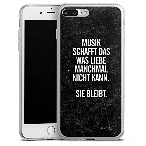 Apple iPhone 8 Slim Case Silikon Hülle Schutzhülle Sprüche Liebe Musik Silikon Slim Case transparent