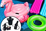 This Electric Pump is perfect for inflating and deflating Pools, Boats, Airbeds and other inflatable items.     The Pump has a UK 3 Pin Plug and three interconnecting nozzles, so it will fit most inflatable items.    Deflate function allows you t...