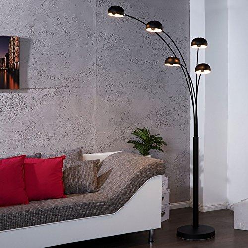 DESIGN LOUNGE STEHLAMPE 5 FIVE FINGERS| schwarz, groß, retro klassiker mit fünf drehbaren Lampen