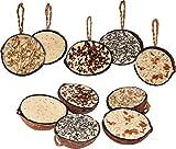 dobar Zehn gefüllte Kokosnüsse in 5 Vogelfutter-Sorten zum Aufhängen, ganzjähriges Fett-Futter Wildvogelfutter Wildvögel, 1er Pack (1 x 2 kg)
