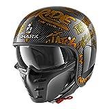 Shark Jethelm S-Drak Carbon Freestyle Cup Deco Gold DQQ Größe XS