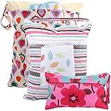 Kilofly Baby 3pc Waterproof Cloth Diaper Travel Wet Dry Bags Reusable Travel Kit