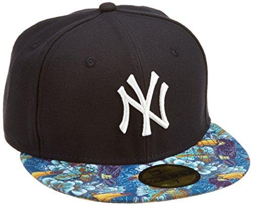 New Era MLB NY Yankees Tropical Toucan 59FIFTY Hat with Visor Adult Baseball Cap blue navy Size:6.875
