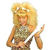 NET TOYS Zulu Knochen Schmuck Voodoo Knochenschmuck beige Knochenkette und Knochenohrringe Zombie Halloween Steinzeit Schmuck Halskette Armband Kostüm Accessoire