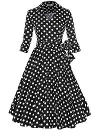 E-Girl M1139A18D Robe de bal Vintage pin-up 50's Rockabilly robe de soirée cocktail,S-XXL