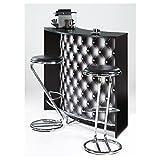 SIMMOB-Mueble Bar-Comptoir de Acoplamiento 2Puertas Negro-Color-capitons 911