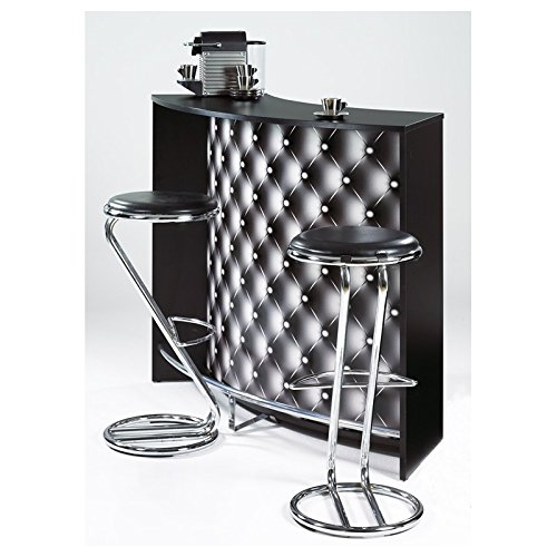 SIMMOB–Mueble Bar–Comptoir de Acoplamiento 2Puertas Negro–Color–capitons 911