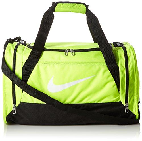 Nike - Borsone sportivo Brasilia 6 Duffel, Uomo, Brasilia 6 Duffel, Amarillo (Volt / Black / White), S