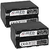 2X Batería Compatible con NP-F960 F970 [6600 mAh] para Sony videocámaras | Neewer LED luz de vídeo | ATOMOS Shogun, Ninja… y mas - Ver Lista de compatibilidad
