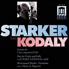Kodaly, Z.: Cello Sonata / Duo / Bottermund, H.: Variations On A Theme By Paganini (Starker Plays Kodaly) (Starker, Gingold)