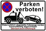 Schild Parken...