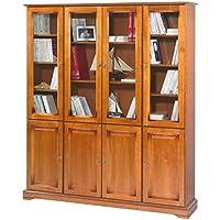 Beaux Meubles Pas Chers - Grande Bibliothèque 8 Portes Merisier Louis  Philippe 39cf018c6472