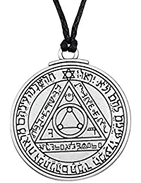 Cooltime - Collar con colgante de talismán con sello de Salomón, diseño de cabalá