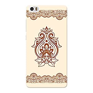 INKIF Ethnic Pattern Design Designer Case Printed Mobile Back Cover for Xiaomi Mi Note (Brown)