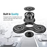 #10: Chronex™ Anti-Anxiety 360 Spinner Helps Focusing Fidget Toys [3D Fidget] Premium Quality EDC Focus Toy for Kids & Adults-Best Stress Reducer Relieves ADHD Anxiety and Boredom Ceramic Cube Bearing (Black)