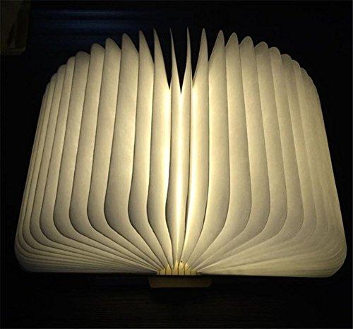 e Buch Licht holz kreative geschenk origami lampe Halloween geschenk schlafzimmer lampe nachtlicht USB ladung induktive typ Europäische größe 165 * 215 * 30mm , 2 (Origami Halloween-laterne)