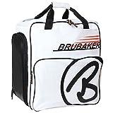 BRUBAKER Super Champion 2.0 Skischuhtasche Stiefeltasche mit Rucksack Tragesystem Weiß Orange