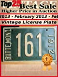 Top25 Best Sale - Higher Price in Auction - February 2013 - License Plate (Top25 Best Sale Higher Price in Auction Book 30) (English Edition)
