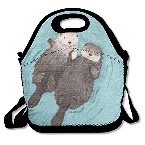 kkwodwcx Cute nutria con aislamiento bolsa para el almuerzo Bolsas de picnic Gourmet bolsas de almuerzo reutilizables para trabajo de la escuela-mejor bolsa de viaje