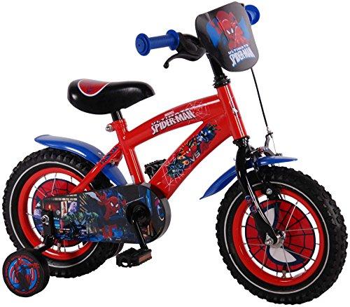 """Disney 12 Zoll 12\"""" Kinderfahrrad Kinder Jungen Fahrrad Rad Marvel Spiderman Bike VOLARE"""