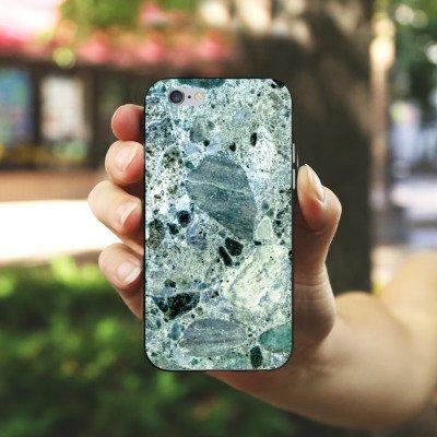 Apple iPhone X Silikon Hülle Case Schutzhülle Granit Marmor Look Marble Silikon Case schwarz / weiß