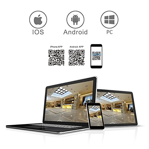 A-ZONE 4 Canale Impianto Videosorveglianzacon 1080P AHD DVR 4 x HD 960PTelecamere Videosorveglianza Infrarossi con Disco Rigido da 2TB